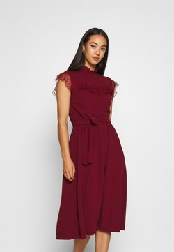WAL G. - FLARE SKIRT MIDI DRESS - Cocktail dress / Party dress - wine