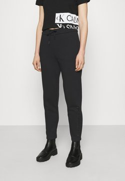 Calvin Klein Jeans - SHINY RAISED PANT - Jogginghose - black