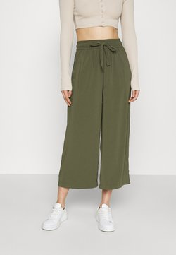 ONLY - ONLCILLE STRING CULOTTE - Spodnie materiałowe - grape leaf