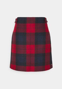 Tommy Hilfiger - CHECK MINI SKIRT - A-Linien-Rock - primary red