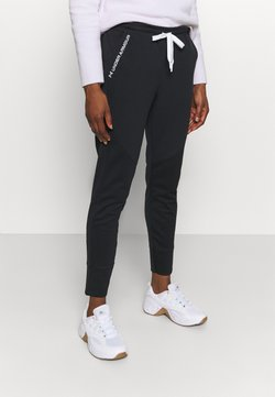 Under Armour - RECOVER PANTS - Tracksuit bottoms - black