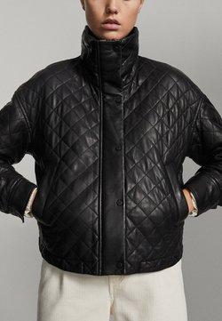 Massimo Dutti - Leren jas - black