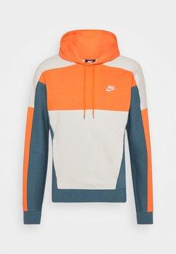 Nike Sportswear - HOODIE - Hoodie - electro orange/ash green/light bone/white
