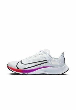 Nike Performance - AIR ZOOM PEGASUS 37 FLYEASE 4E - Neutrala löparskor - white/hyper violet/spruce aura/flash crimson