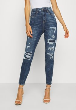 American Eagle - CURVY SUPER DREAM AN - Jegging - somber navy