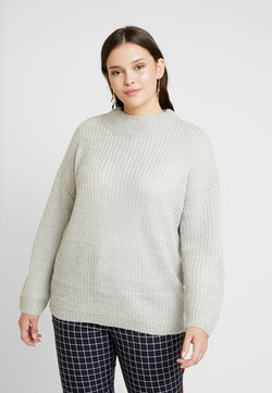 New Look Curves - CREW NECK BOXY JUMPER - Neule - light grey