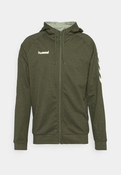 Hummel - ZIP HOODIE - Sudadera con cremallera - grape leaf