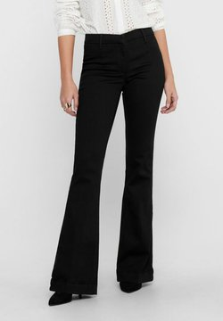 ONLY - ONQNEWBLOOM - Flared Jeans - black