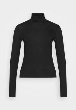 Gina Tricot - GIANNA POLO - Langærmede T-shirts - black