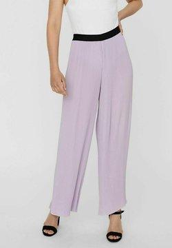Vero Moda - Kangashousut - pastel lilac