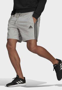 adidas Performance - AEROREADY ESSENTIALS 3-STRIPES SHORTS - Krótkie spodenki sportowe - grey