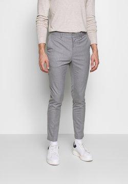 New Look - TONY PINSTRIPE SKINNY - Puvunhousut - light grey