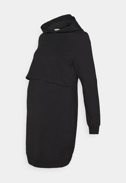 Anna Field MAMA - NURSING HOODIE DRESS - Jerseykjole - black