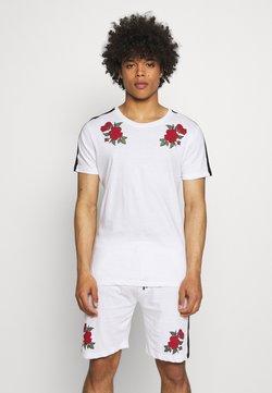Brave Soul - ROSE PRINTED SET - T-Shirt print - white