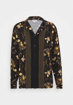 Vintage Supply - LONGSLEEVE BOARDER SHIRT - Hemd - black