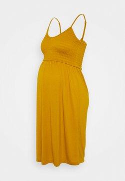 MAMALICIOUS - MLSILLE SMOCK DRESS - Sukienka z dżerseju - buckthorn brown
