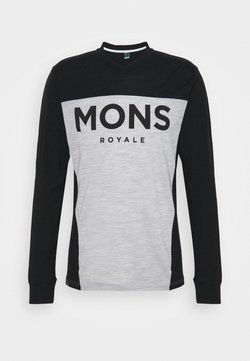 Mons Royale - REDWOOD ENDURO - Langarmshirt - black/grey marl