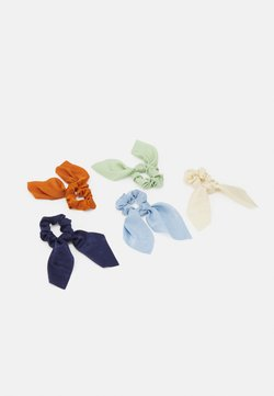 Pieces - PCHASEL BOW SCRUNCHIE5 PACK - Haaraccessoire - navy blazer/multi