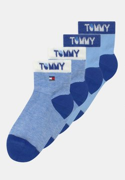 Tommy Hilfiger - WORDING 4 PACK UNISEX - Calcetines - blue
