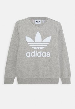 adidas Originals - TREFOIL CREW - Sweatshirt - medium grey heather