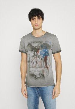 Key Largo - HILL ROUND - T-shirt print - anthracite