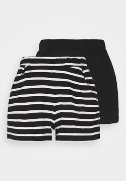 ONLY - ONLMAY LIFE STRIPE 2 PACK  - Shorts - black/black