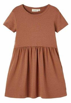 Name it - KURZE ÄRMEL - Jerseykleid - carob brown