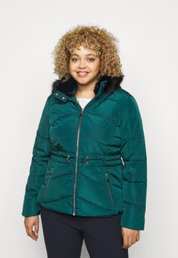 CAPSULE by Simply Be - LUXE HOODED SHORT PADDED COAT - Winterjacke - forest green