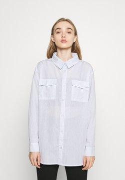 Missguided - STRIPE POCKET DETAIL  - Bluse - white