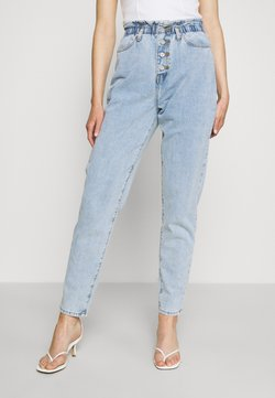 Missguided - RIOT HIGHWAISTED MOM VINTAGE - Relaxed fit jeans - blue