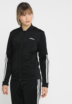 adidas Performance - ESSENTIALS 3STRIPES SPORT TRACKSUIT - Survêtement - black/white