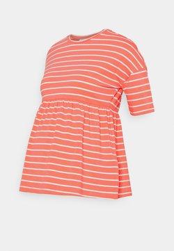 MAMALICIOUS - MLOTEA - T-Shirt print - sugar coral/snow white