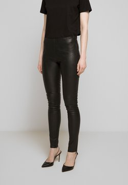 2nd Day - JILL - Leather trousers - black