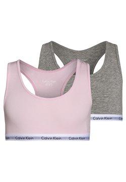 Calvin Klein Underwear - 2 PACK - Bustier - grey heather