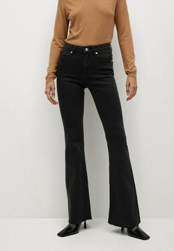Mango - FLARE - Flared Jeans - black denim