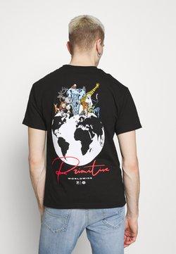Primitive - KINGDOM TEE - Printtipaita - black