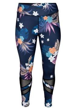 Active by Zizzi - Leggings - Hosen - blue flower