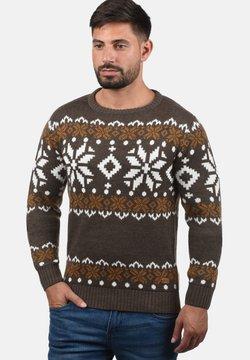 Solid - NORWIG - Pullover - dark brown