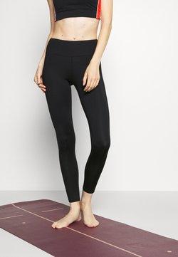 South Beach - WETLOOK HIGH WAIST LEGGING - Legging - black