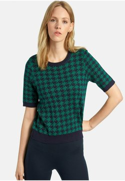 PETER HAHN - T-Shirt print - marine/grün