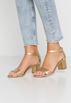 Anna Field - LEATHER HEELED SANDALS - Sandales - gold