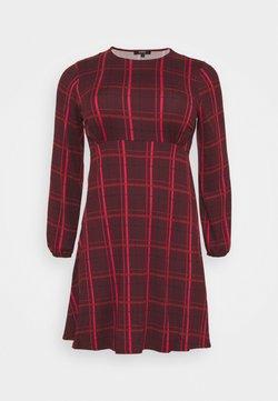 Simply Be - ALINE TEA DRESS - Freizeitkleid - dark red