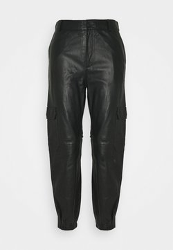 Part Two - GERTA - Pantalon en cuir - black