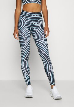 Tommy Sport - ENGINEERED PRINTED LEGGING - Tights - blue