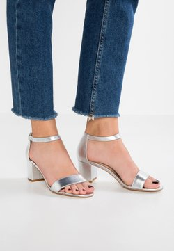 Anna Field - LEATHER HEELED SANDALS - Sandales - silver