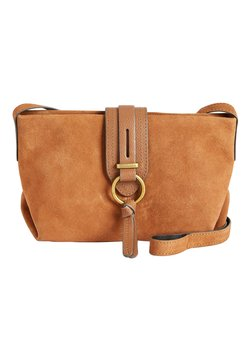 Next - MINK LEATHER AND SUEDE ACROSS-BODY BAG - Umhängetasche - brown