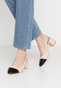 Rubi Shoes by Cotton On - LUCIA LOW BLOCK HEEL - Avokkaat - pale taupe/black