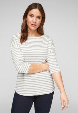 s.Oliver - Langarmshirt - cream/ grey stripes