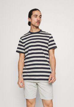 Selected Homme - MAXWELL ONECK TEE - T-Shirt print - sky captain/melange