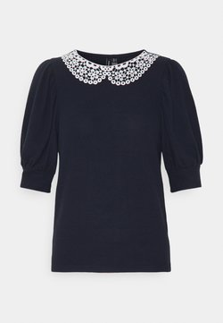 Vero Moda - VMTAMIRA COLLAR - T-shirt con stampa - night sky/snow white